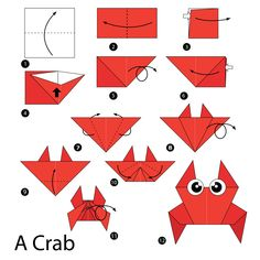 Simple origami instructions – how to fold a crab