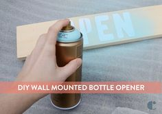 Learn how to make a fun wall mounted bottle opener with a geometric metal basket...