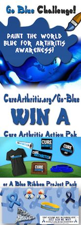 The #GoBlue for #Arthritis Challenge! Submit your pics today!