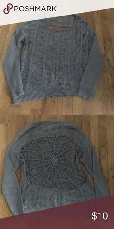 Sweater Sweater with spider web cut out back Sweaters