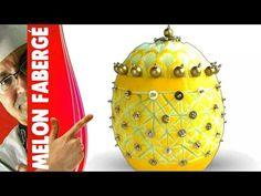 Art in Melon, Melon in Fabergé style - Fruit & veg Carving, Escultura em frutas, การแกะสลักผลไม้