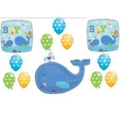 Little Squirt Baby Boy Shower balloons Decorations Supplies Whale Baby Shower Balloon Decorations, Baby Shower Balloons, Baby Shower Centerpieces, Baby Shower Parties, Baby Showers, Cute Baby Shower Ideas, Baby Shower Themes, Baby Boy Shower, Baby Ideas