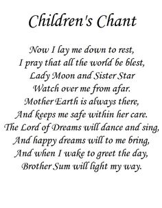 Children's Bed time Prayer; this is my favorite! I say it every night before bed to Sprout