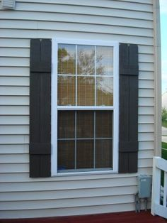 DIY Shutters Via: Thrifty Decor Chick: The details of the deck. Shutters Exterior, House, Home, Windows Exterior, House Exterior, Diy Shutters, Exterior Design, Home Diy, Diy Window