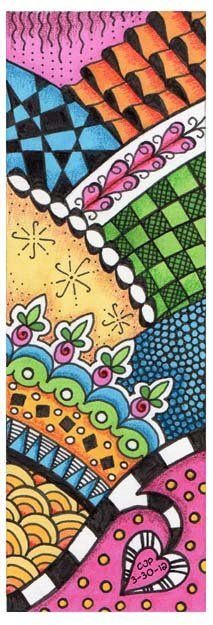 colored zentangles - Google Search