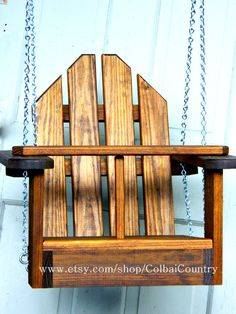 Kid Toddler Child Tree or Porch Wooden Swing or for Swing Set Wooden Swings, Porch Wooden, Woodworking Projects, Woodworking Plans, Youtube Woodworking, Workbench Plans, Woodworking Magazine, Woodworking Workshop, Woodworking Videos