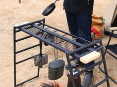 Camping Furniture, Camping Table, Tiny Cabins, Blacksmithing, Tents, Glamping, Grilling, Kitchen, Outdoor