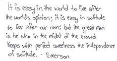 Ralph Waldo Emerson from Self-Reliance