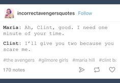 Maria Hill; Marvel; Clint Barton; Hawkeye