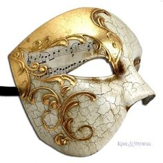Phantom of the Opera VENETIAN Masquerade Mask GILDED MELODY Made in... ❤ liked on Polyvore featuring masks