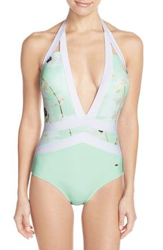 Ted Baker London 'Pearly Petal' Banded One-Piece Swimsuit available at #Nordstrom