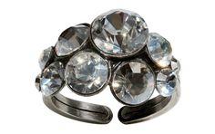 Konplott Ring Petit Glamour mit weißen Steinen