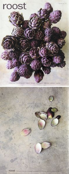 Love the color of these artichokes.