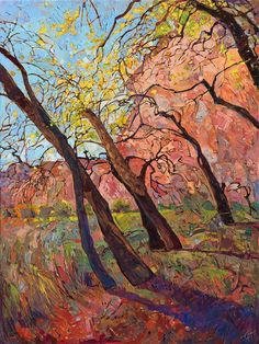 Canyon de Chelly original oil painting for sale by impressionist artist Erin Hanson