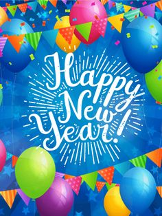 Happy New Year Card Birthday Greeting Cards By Davia