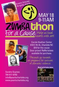 Our Zumbathon for a cause!  Awesomeness! Raising awareness about domestic violence and funds for our art programs for survivors.