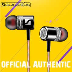 GLAUPSUS G1 HiFi Earphones Music Earphones 3.5mm Audio Jack In-Ear Headphone