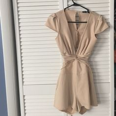 Boohoo sexy cut out romper Perfect for a night out. This sexy romper is low cut in the front and has cut out detail in the lower back. US 4 / UK 8 Boohoo Pants Jumpsuits & Rompers