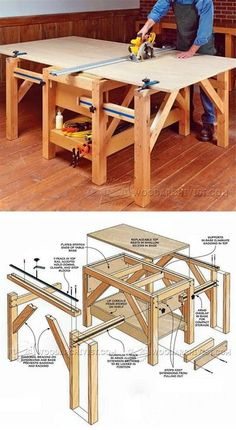 Plywood Cutting Table Plans - Circular Saw Tips, Jigs and Fixtures   WoodArchivist.com