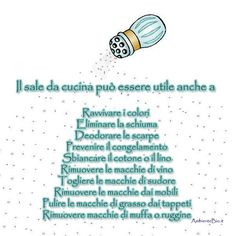 Uso del sale non solo in cucina. Home Remedies, Natural Remedies, Lava, Ideas Para Organizar, Desperate Housewives, Home Management, Love Home, Diy Cleaning Products, Organization Hacks