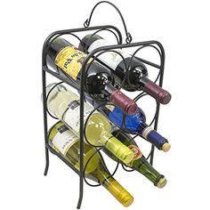 Best Wine Rack | Sorbus 6 Bottle Freestanding Wine Holder Rack Classic Arch Style Wine Stand Designed for Countertops Tabletops and more  Great for Small Spaces ** Visit the image link more details. Note:It is Affiliate Link to Amazon.