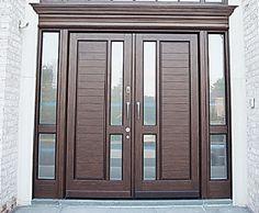 Door for Entrance Wooden Front Door Design, Wooden Front Doors, Main Door Design, Gate Design, Home Room Design, House Design, Custom Wood Doors, Double Front Doors, Door Entryway
