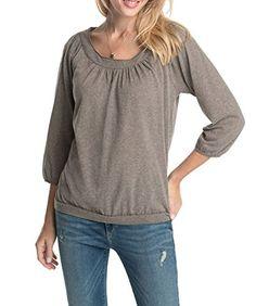 ESPRIT Damen Langarmshirt mit Carmen-Ausschnitt 104EE1K054