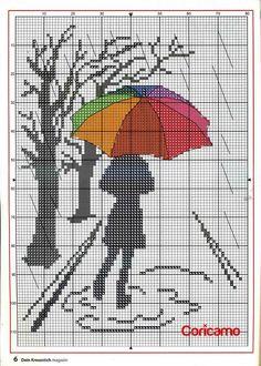 The thread - needle: Cross Stitch Cross Stitch Tree, Cross Stitch Bookmarks, Cute Cross Stitch, Beaded Cross Stitch, Cross Stitch Embroidery, Funny Cross Stitch Patterns, Cross Stitch Charts, Cross Stitch Designs, Cross Stitch Silhouette