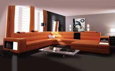 Rexona Orange leather sofa--we can dream...