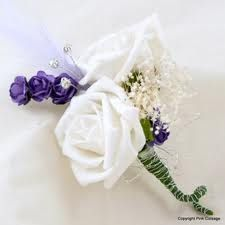 white and lilac wedding flowers - cant forget the groom