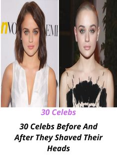 Celebrities who shaved their heads are the perfect example that a bare head doesn't diminish someone's beauty. Bald Head Women, Shaved Head Women, Girls With Shaved Heads, Before And After Shaving, Famous Celebrities, Celebs, Buzz Cut Women, Shave My Head, Celebrities Before And After