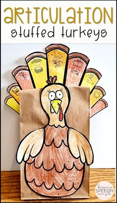 This adorable speech craft will keep students engaged and motivated during speech therapy sessions. There are 57 sound targets included with this resource!  The activity requires very little prep. Just grab some scissors, glue and crayons to decorate the turkey and adhere to the paper bag. No bag? No problem! This craft works just fine without it! All targets are picture supported for non-readers and early learners. Ideal for your preschool and early elementary students! Click here for more!