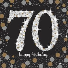 Check out Sparkling Celebration Birthday Beverage Napkins from Birthday In A Box 70th Birthday Decorations, 70th Birthday Parties, Birthday Box, Birthday Cake Decorating, Birthday Numbers, Happy Birthday Cakes, Vintage Birthday, Birthday Wishes, Birthday Greetings