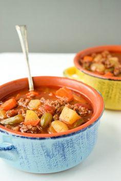 Instant Pot Hamburger Soup Whole30 Paleo by Tasty Thin