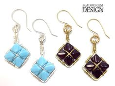 Wire Wrapped Dia Beads Earrings Tutorial