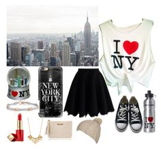 """""""New York"""" by caity3726 ❤ liked on Polyvore featuring Casetify, Bling Jewelry, Chicwish, Estée Lauder, Converse, Kate Spade, GiGi New York and Billabong"""