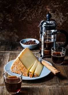 mid-day monday pick me up Fromage Aop, Fromage Cheese, Cheese Food, Marie Claire, Coffee Recipes, Wine Recipes, Dark Food Photography, Life Photography, Key Food