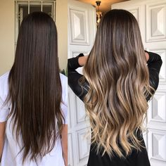 10 medium to long hair styles ombre balayage hairstyles ideas for women 2019 55 Medium Blonde Hair, Brown Blonde Hair, Brunette Hair, Cabelo Ombre Hair, Ombre Hair Color, Stylish Hair, Blonde Balayage, Hair Highlights, Hair Looks
