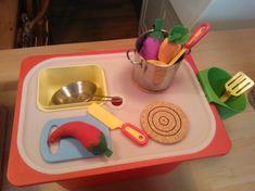 Travel play kitchen from TROFAST storage box