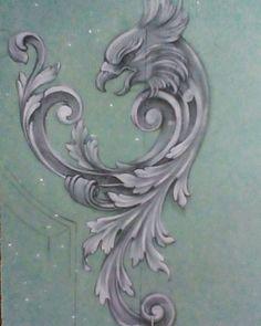 Sculpture Ornementale, Motif Arabesque, Filigree Tattoo, Ornament Drawing, Engraving Art, Wood Carving Designs, Scroll Pattern, Filigree Design, 3d Prints
