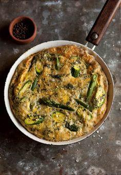 Asparagus & zucchini frittata