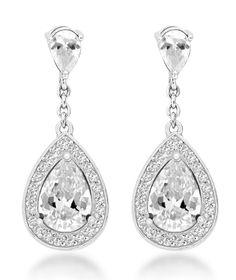 Tuscany Silver Cubic Zirconia Teardrop Earrings