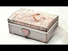 Decoupage pudełko z baletnicą; malowane szpachelką - DIY tutorial - YouTube