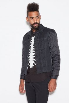 Undercover - not my thing exactly, but for somebody whose style this jacket matches this is great. Undercover, Japanese, Mens Fashion, Sleeves, Jackets, Black, Style, Moda Masculina, Down Jackets