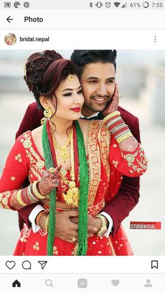 Nepali couple wedding day pose Couple Wedding Dress, Wedding Couple Photos, Wedding Couples, Indian Wedding Couple Photography, Bride Photography, Indian Wedding Poses, Bridal Photoshoot, 3d Studio, Bright