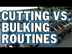 Cutting vs. Bulking Routines - Whats the Difference? - MKF