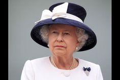 Queen Elizabeth II leaves HMCS St John's after the International Fleet Review on June 29, 2010 in Halifax, Canada.