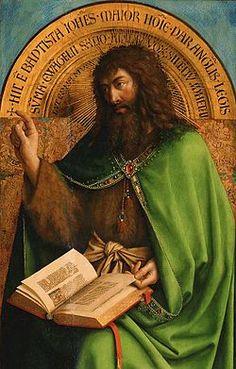 L'Adoration de l'Agneau mystique - 1432 Van Eyck. Saint-Jean-Baptiste.