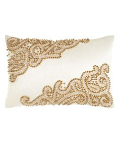 Golden Scroll Lumbar Pillow, Gold