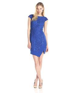 Adrianna Papell Women's Cap-Sleeve Asymmetric-Hem Dress * Review more details here : Women's dresses